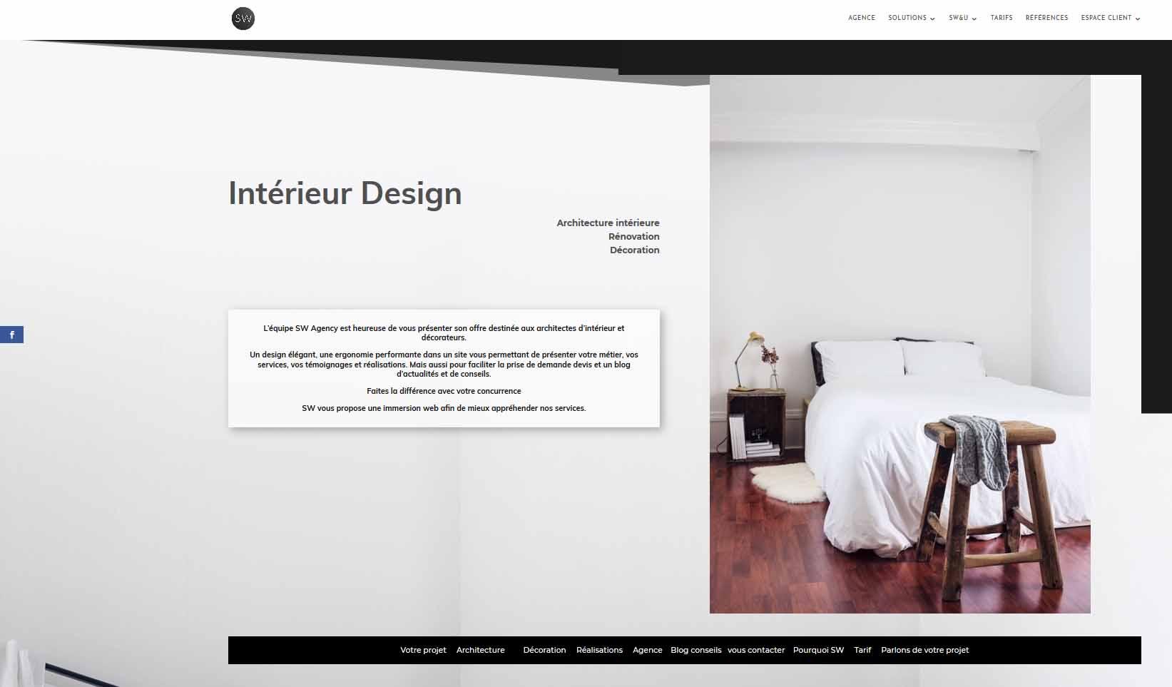 Site Internet Decoration Intérieure créer un site internet pour architecte d'intérieur et